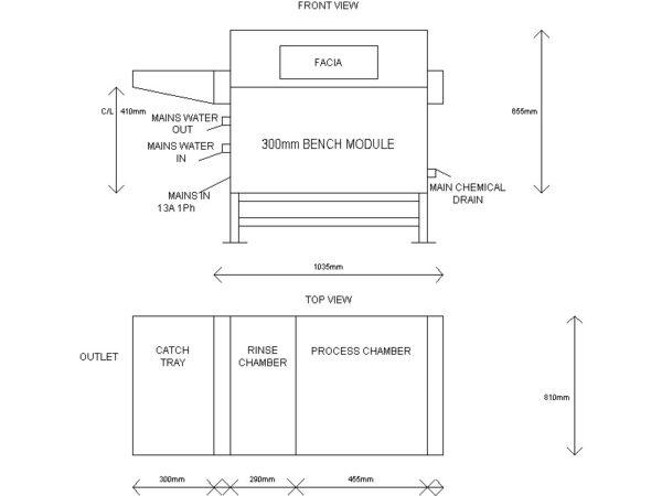 CP300DS Etching Machine Footprint