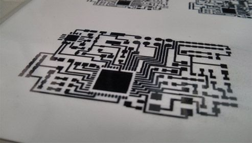 Conductive Trace Print Image