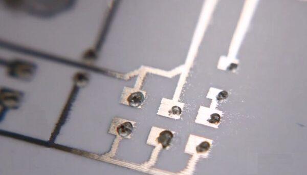 PCB trace conductive silver ink paste